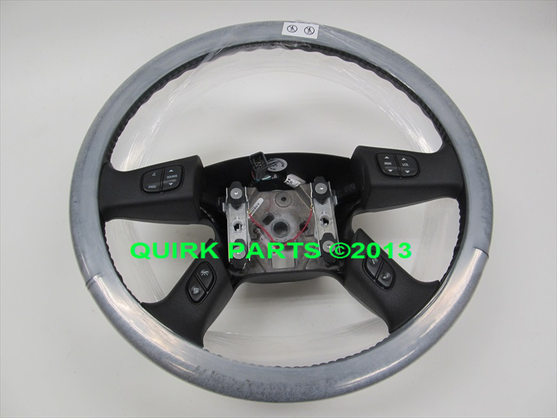 2005 2007 chevy gmc hummer black leather steering wheel w. Black Bedroom Furniture Sets. Home Design Ideas