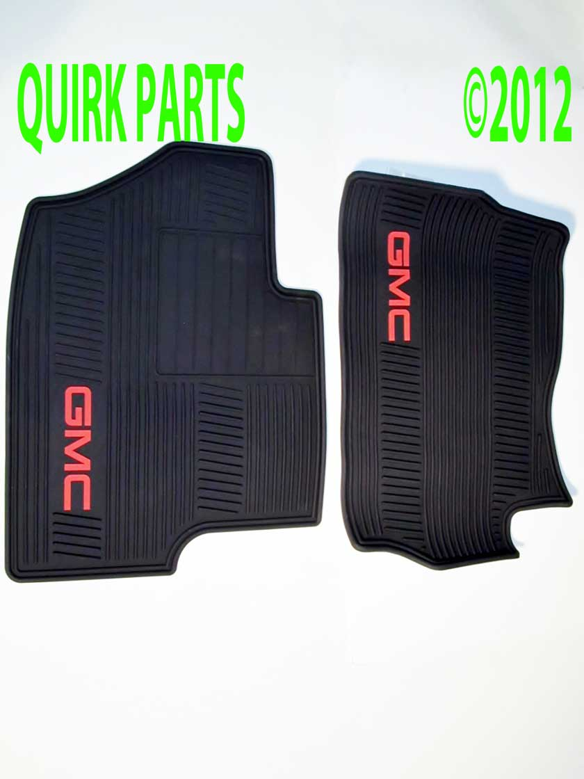 Rubber floor mats gmc terrain - 2007 2012 Gmc Sierra Yukon Denali Front Premium All Weather Floor Mats Ebony Oem