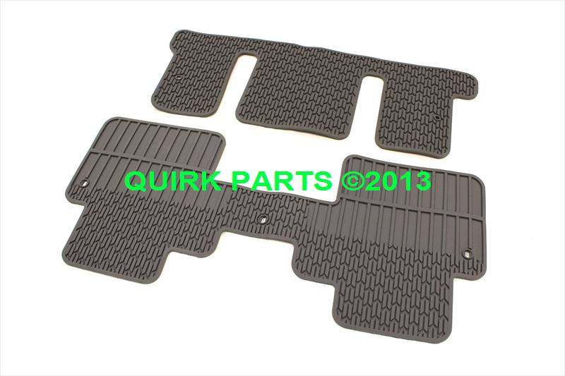 2012 2014 Chevrolet Traverse 3rd Amp 2nd Row Rubber Floor