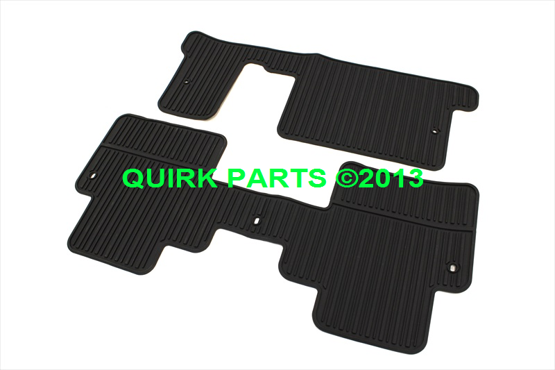 2008 2014 Buick Enclave 3rd Amp 2nd Row Rubber Floor Mats