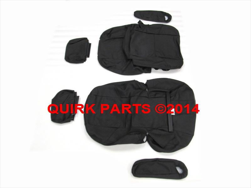 2007 2009 Chevy Suburban Tahoe GMC Yukon XL Second Row Bucket Seat Covers Ebony
