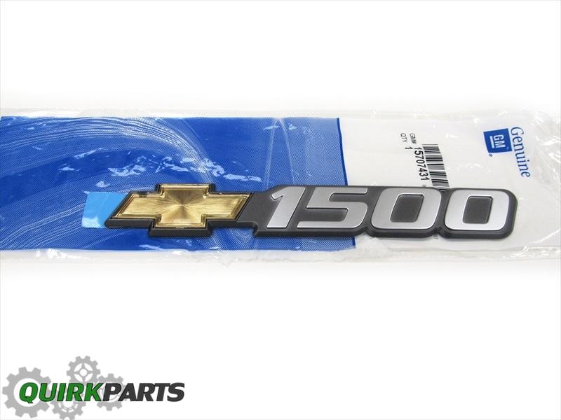 "OEM NEW Right or Left Front Door /""1500/"" Emblem Badge 00-03 Silverado 15707431"