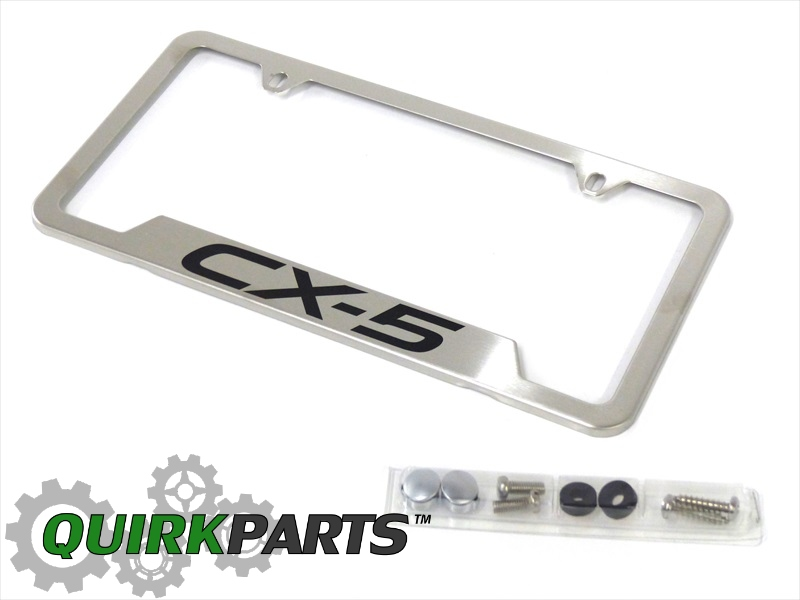 2013-2016 Mazda CX-5 License Plate Frame Brushed Stainless Steel OEM ...