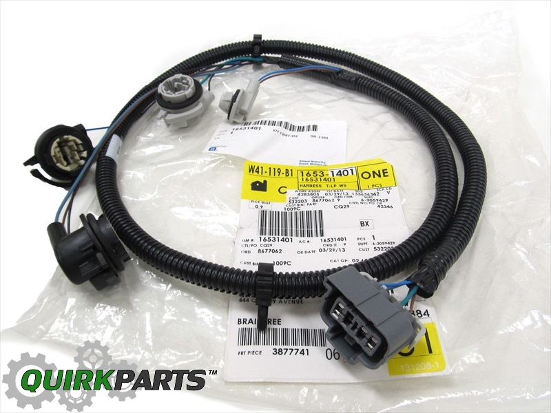 16531401_5 oem new rear left driver's tail light lamp wiring harness 03 07 rear tail light wiring harness f350 rear at soozxer.org