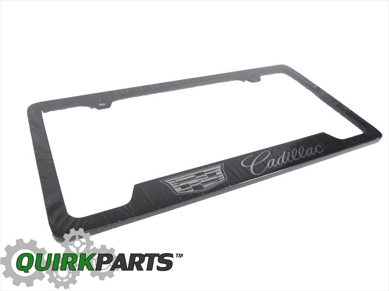 2014 cadillac escalade license plate frame black amp