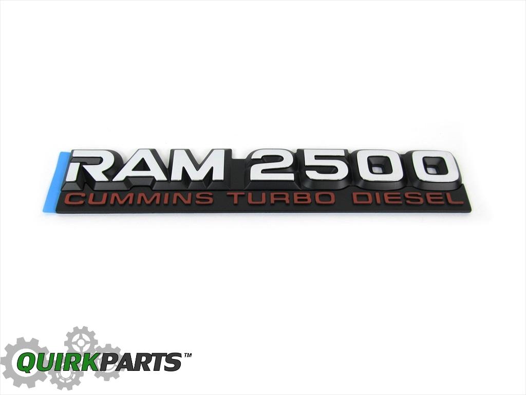 Dodge Ram Dt Cummins Turbo Diesel Nameplate Emblem New Oem Mopar Car Truck Parts Truck Emblems