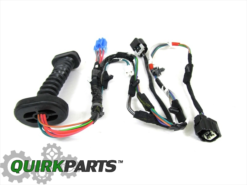 dodge ram 1500 2500 rear door wiring harness right or left side genuine mopar part 56051931ab this oem factory new rear left or right door wiring harness