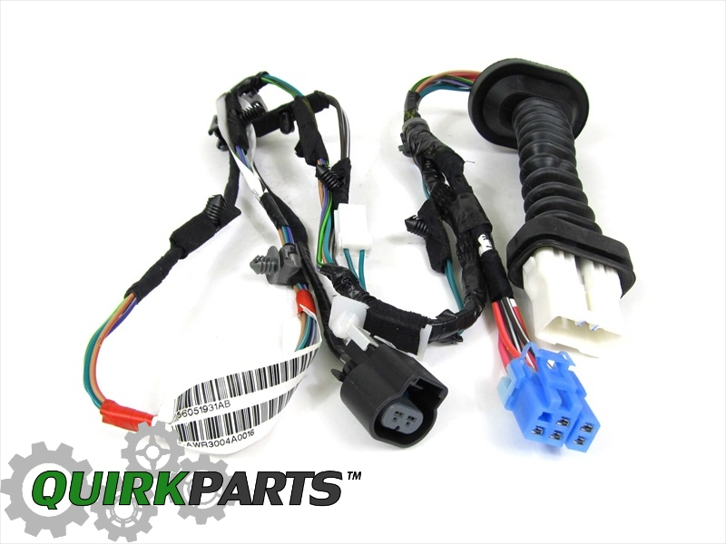 dodge ram 1500 2500 rear door wiring harness right or left. Black Bedroom Furniture Sets. Home Design Ideas