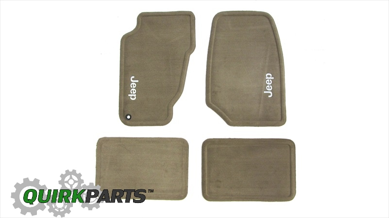 Jeep Grand Cherokee Carpet Floor Mats 99 04 Taupe Mopar Does Not Ly