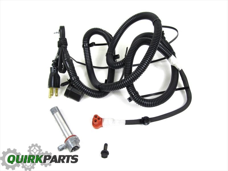 Quirk Jeep Braintree >> 11-17 DODGE DURANGO JEEP GRAND CHEROKEE 3.6L ENGINE BLOCK HEATER OEM NEW MOPAR   eBay