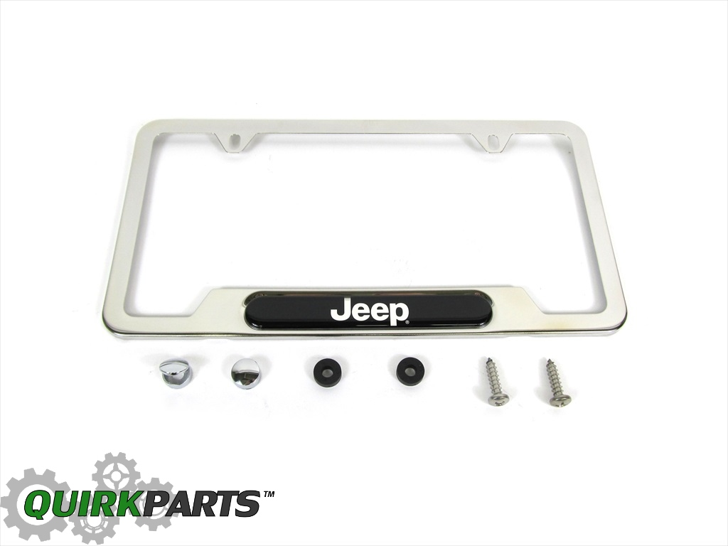 13 17 jeep patriot compass renegade license plate frame with jeep logo. Cars Review. Best American Auto & Cars Review