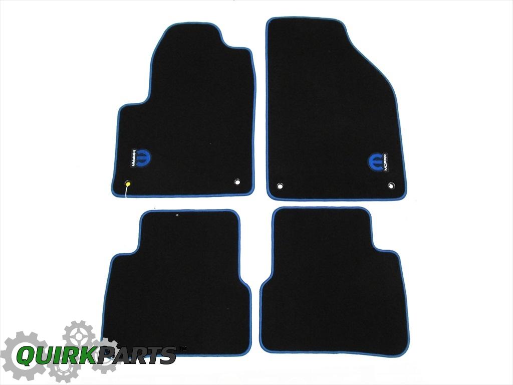 13 16 dodge dart front rear carpet floor mats with mopar logo new mopar genuine. Black Bedroom Furniture Sets. Home Design Ideas