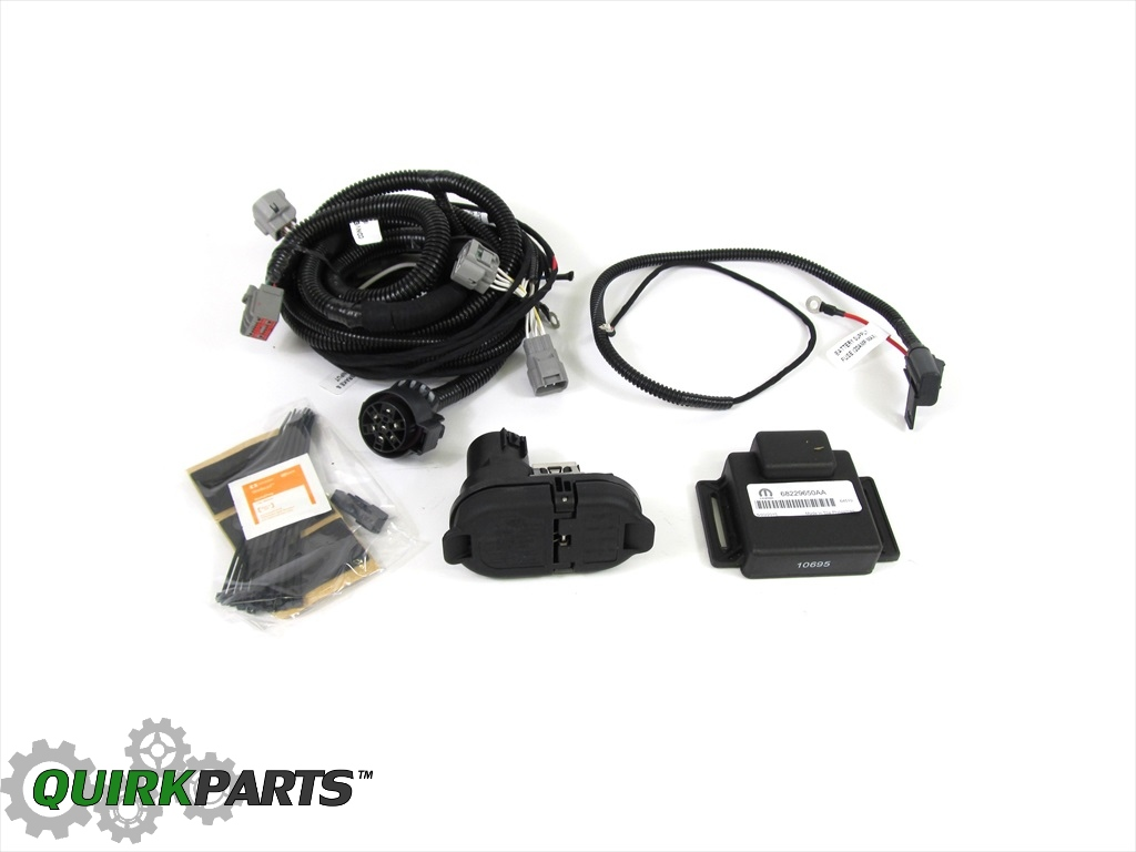 find 14 15 jeep cherokee trailer tow wiring kit harness 7. Black Bedroom Furniture Sets. Home Design Ideas