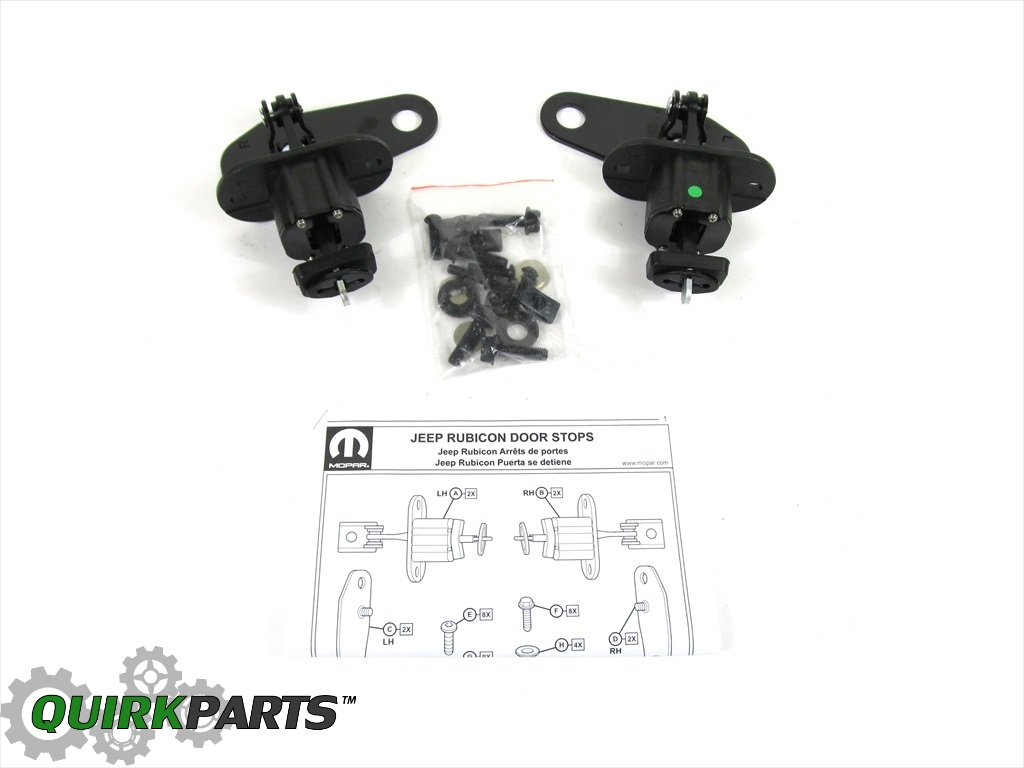07 16 Jeep Wrangler Front Door Check Strap Kit W Template