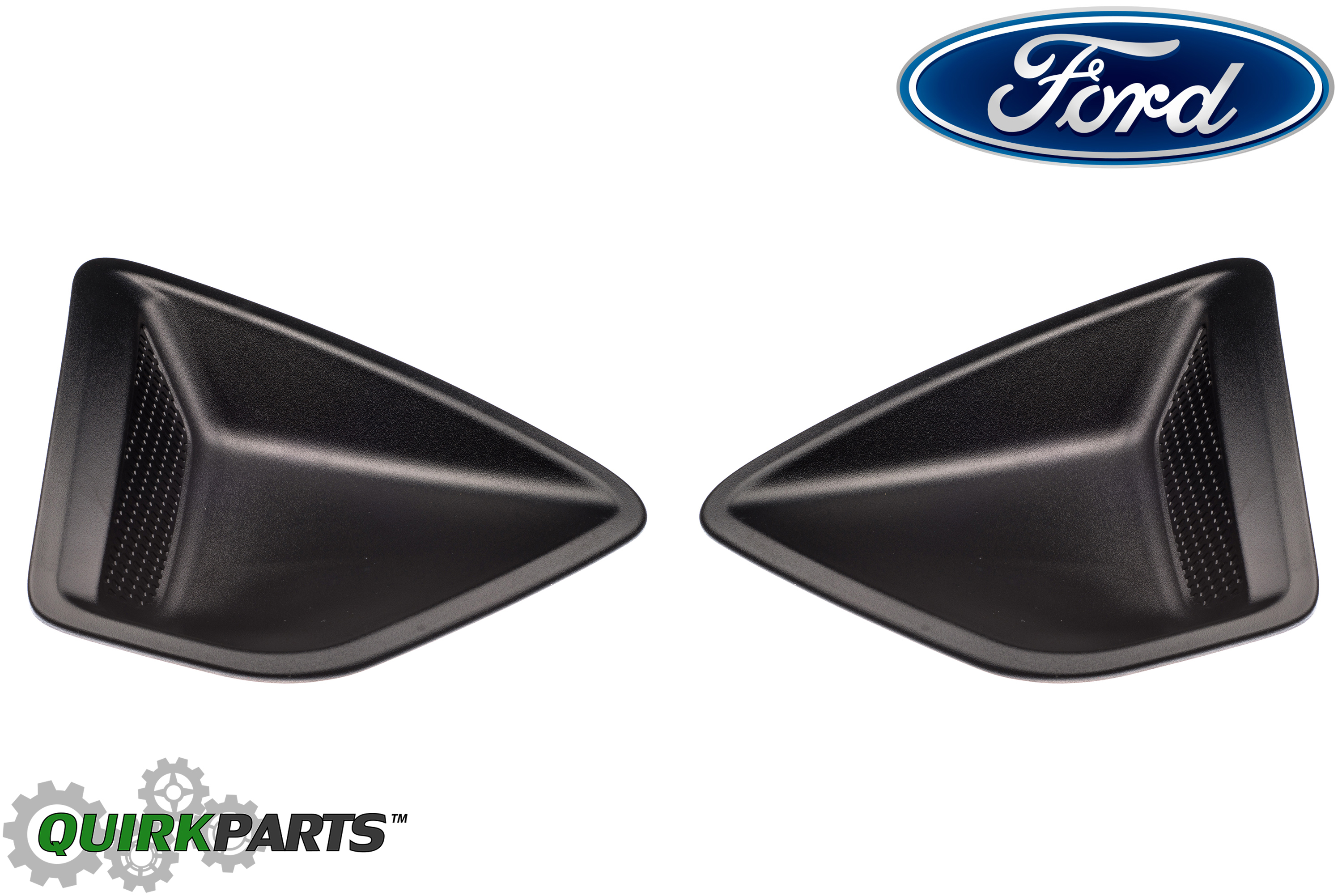 Pair front bumper fog light lamp cover Without Hole for Ford Fiesta 2013-2015