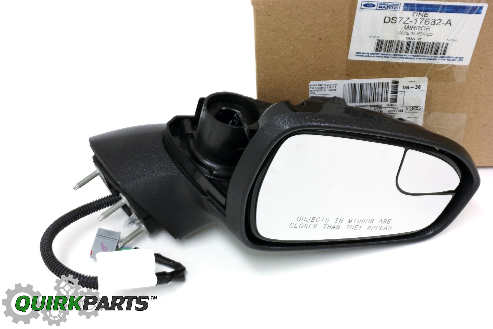 DS7Z17682A_1 2013 2015 ford fusion right passenger side view power mirror oem  at cos-gaming.co