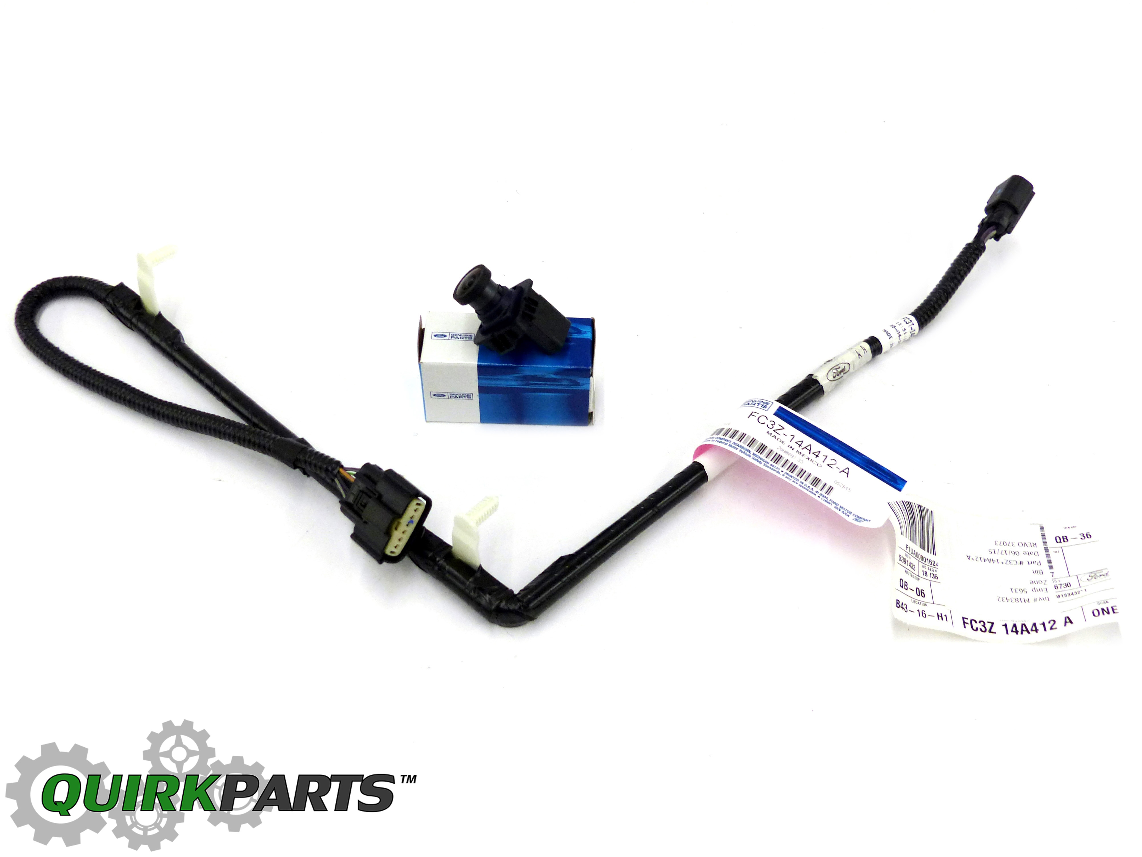 FC3Z14A412ASET_1 2013 2016 ford f250 f350 super duty rear view back up camera wire harness for f250 tow package at panicattacktreatment.co