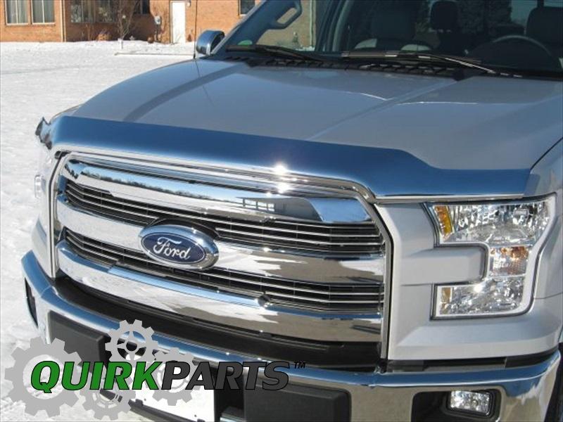 2015 2017 Ford F150 Chrome Hood Deflector Bug Shield Protector Oem