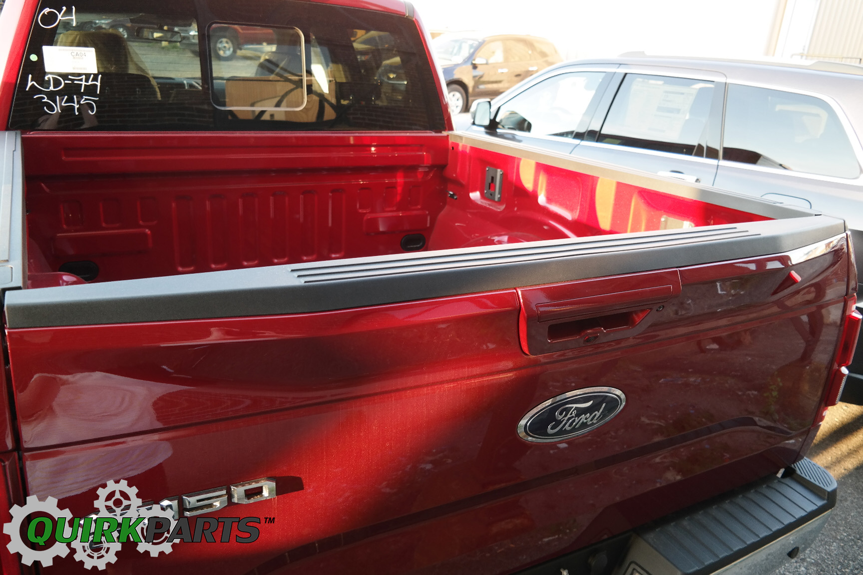 2015 16 ford f150 black top center tailgate molding cover cap oem fl3z9941018aa fits ford f 150 - 2015 Ford F 150 King Ranch Tailgate
