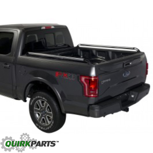 2015-2017 Ford F150 5.5 Side Bed Rails Chrome W Black End