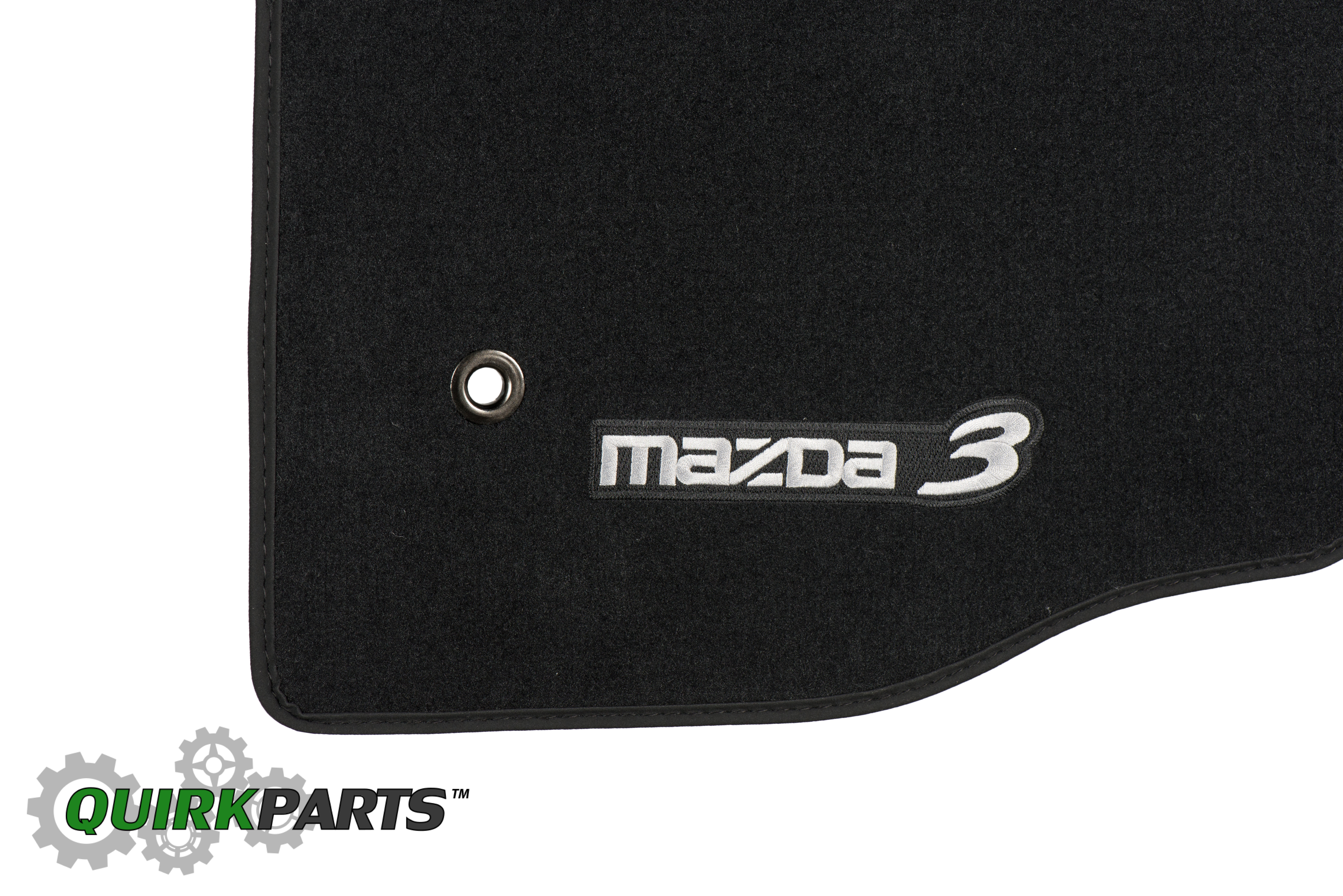 mazda 3 black carpet floor mats w logo 0000 8b l65 oem. Black Bedroom Furniture Sets. Home Design Ideas