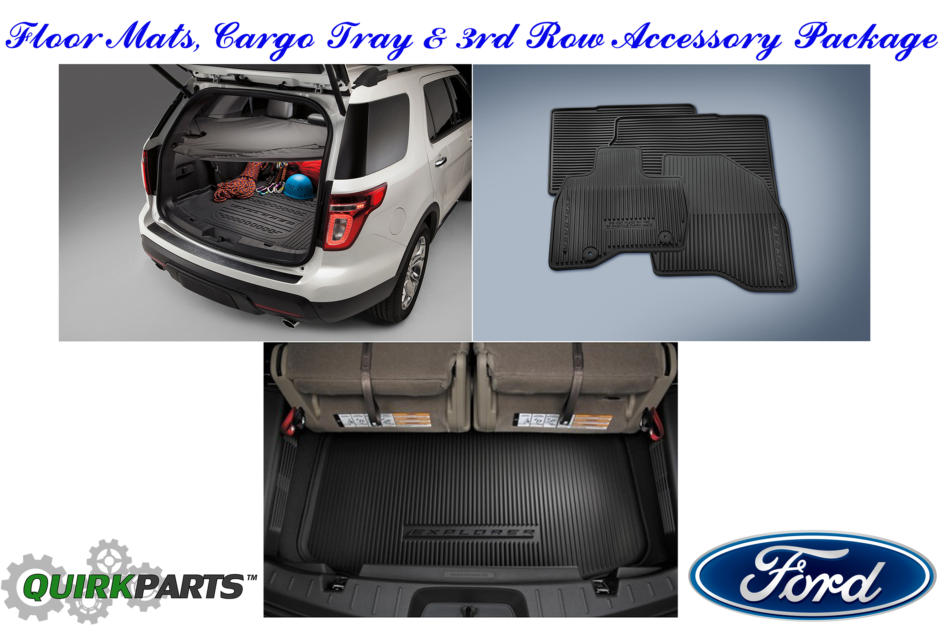 2016 Ford Explorer All Weather Floor Mat 3rd Row Seat