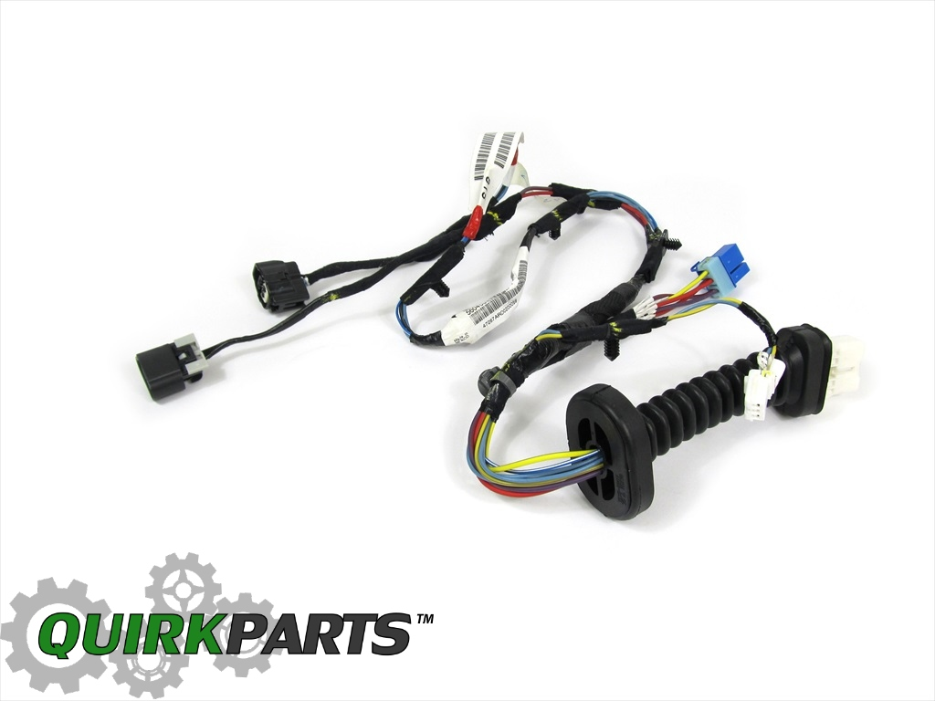 dodge ram wiring harness connectors 02-03 ram 1500 2500 3500 quad cab rear l/h power door lock ... dodge ram wiring harness from cab back
