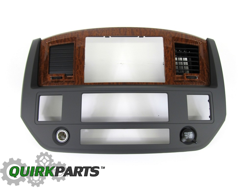 20062007 Dodge Ram 2500 3500 Radio Navigation Bezel Slate Gray Wood Mopar  Oem (