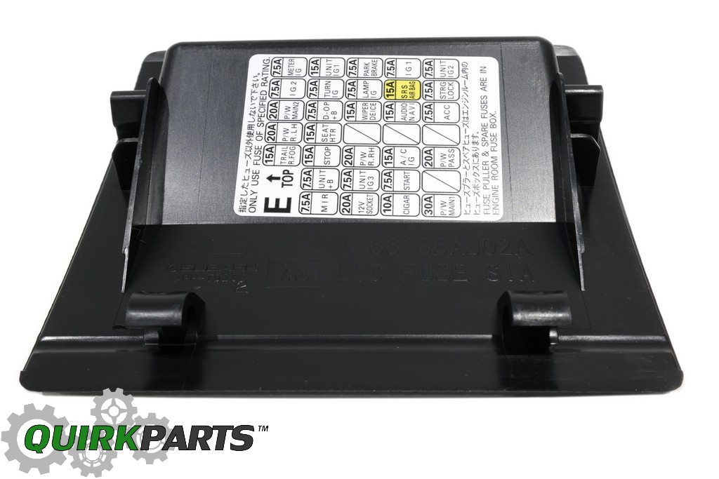 66135AJ00AVH_5 10 12 subaru dash fuse box door lid black outback & legacy oem new 2012 subaru legacy fuse box diagram at soozxer.org