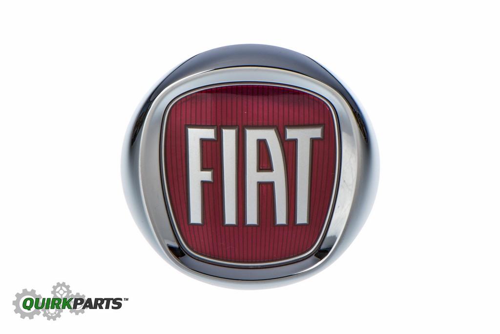 oem new mopar genuine front bumper fascia emblem badge nameplate 12 17 fiat 500. Black Bedroom Furniture Sets. Home Design Ideas