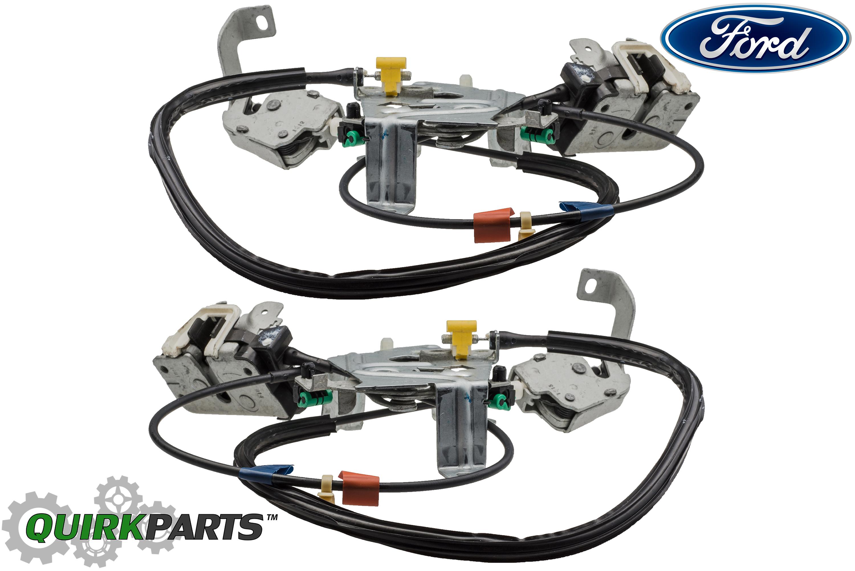 Ford F250 F350 Super Duty Super Cab Rear Door Latch Locks
