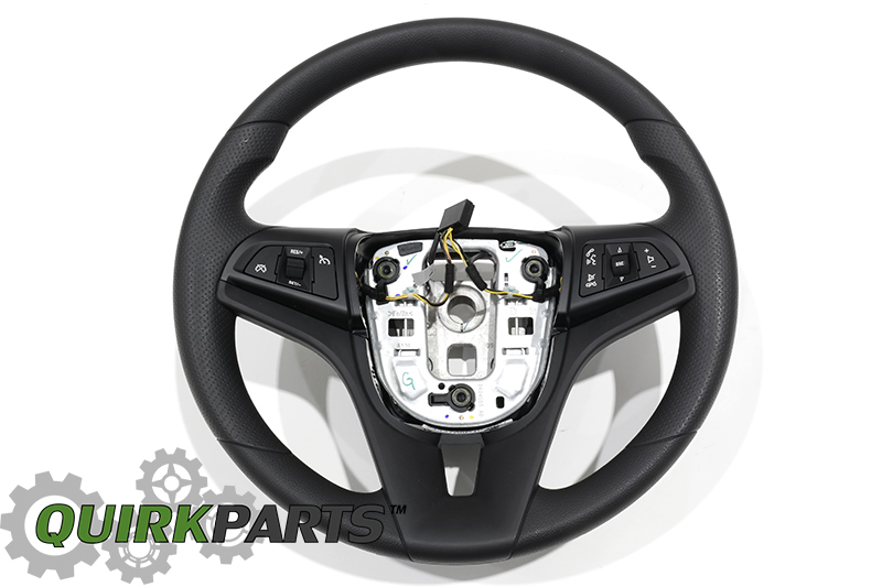 oem new steering wheel w cruise radio control jet black 12 14 cruze 95081937 ebay. Black Bedroom Furniture Sets. Home Design Ideas