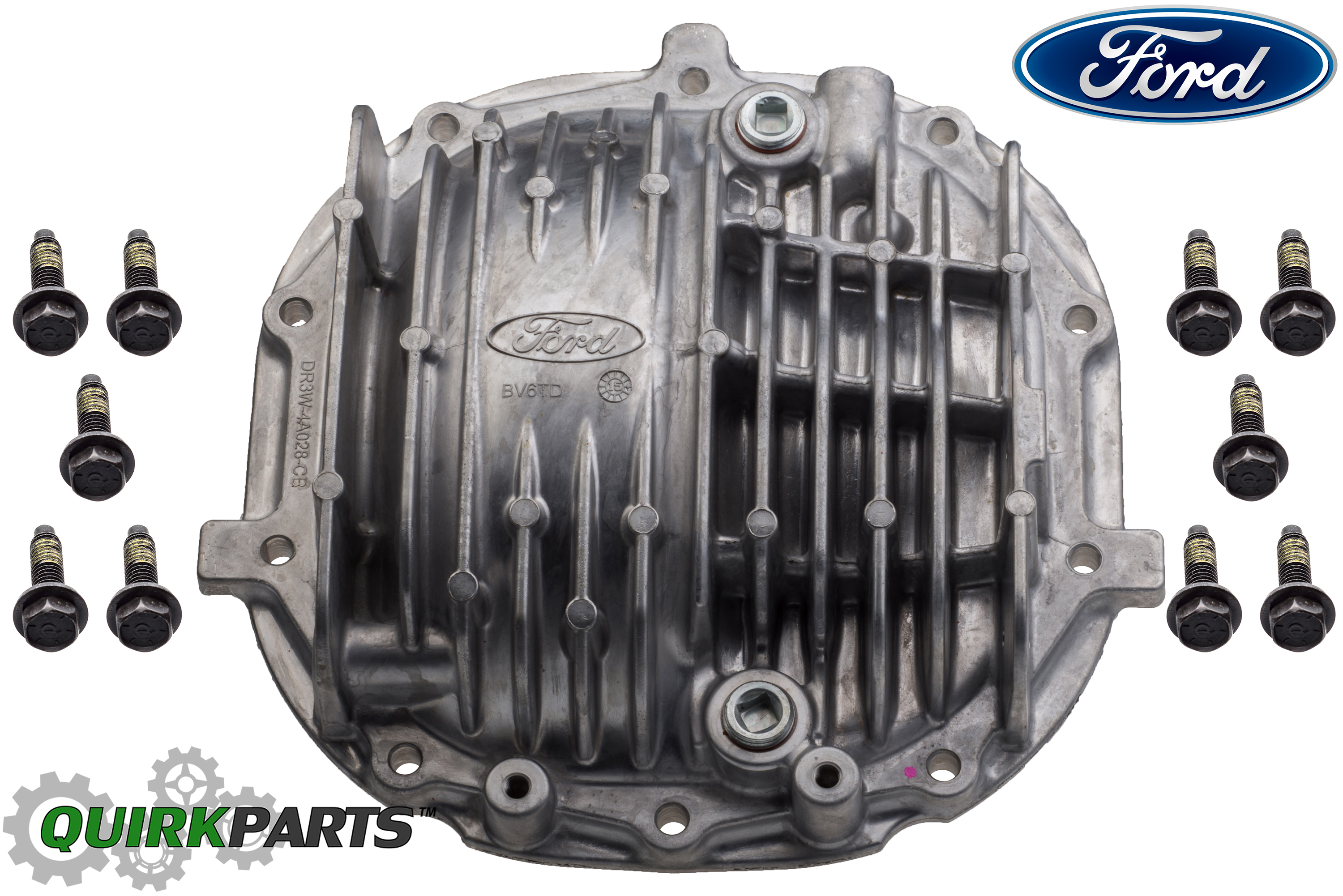 Ford Mustang Gt500 Rear 8 8 U0026quot  Axle Differential Cover Aluminum Finned  U0026 Bolts Oem