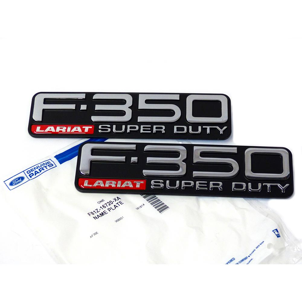 1999 2004 Ford F350 Lariat Super Duty Fender Emblems Right Left Oem Image Is Loading
