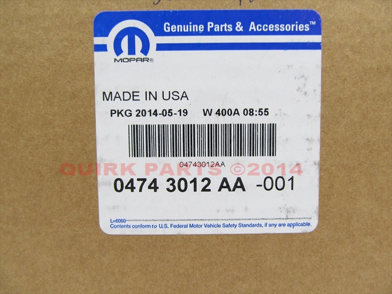 Chrysler Genuine Chrysler 4743012aa Power Steering Fluid Reservoir