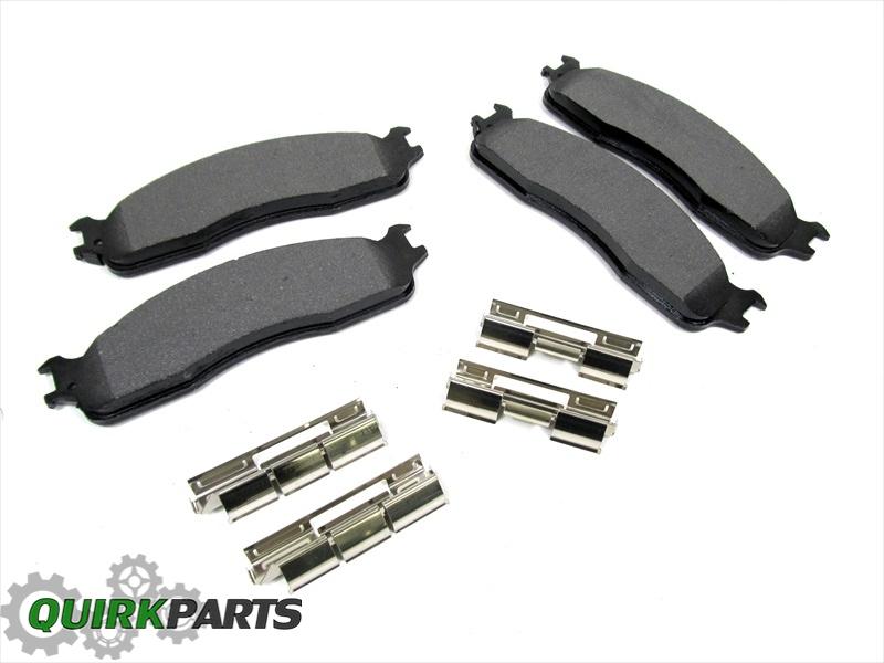 Dodge Factory Brake Lines : Dodge ram set of front brake pads premium mopar