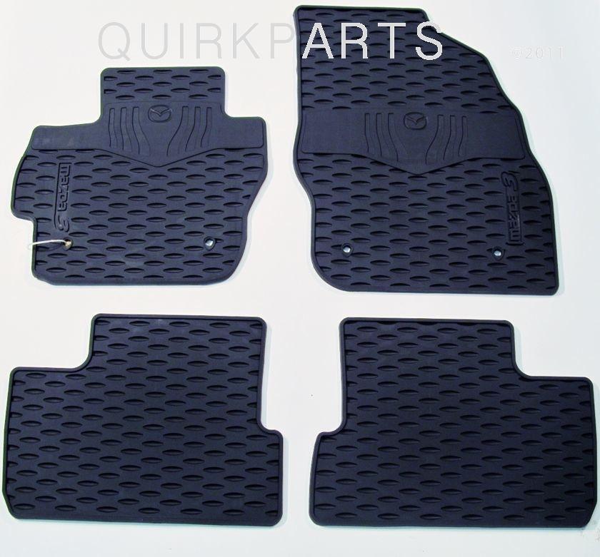 2010 2011 2012 2013 mazda 3 all weather rubber floor mats black front rear oem ebay. Black Bedroom Furniture Sets. Home Design Ideas