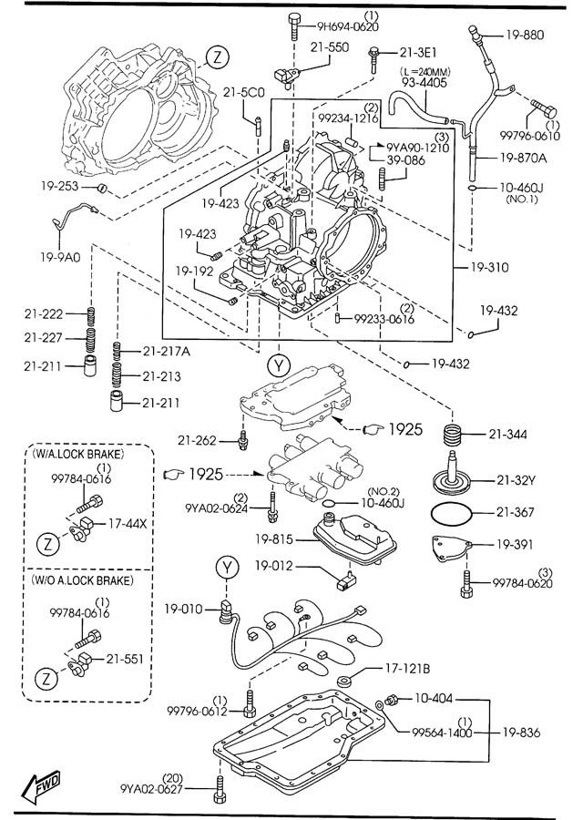 2004 mazda 3 transmission diagram
