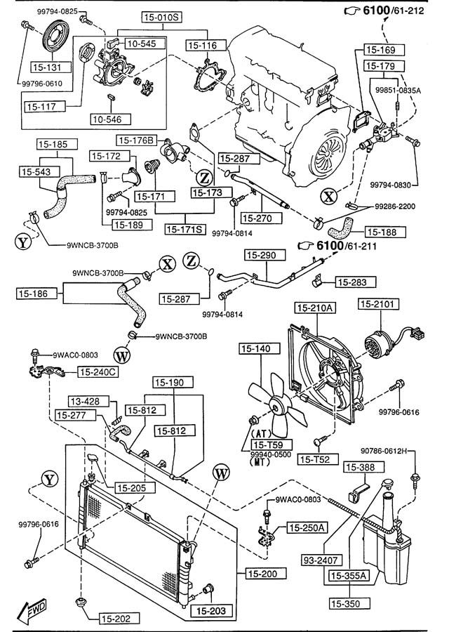 190938735141 on 2003 miata water pump
