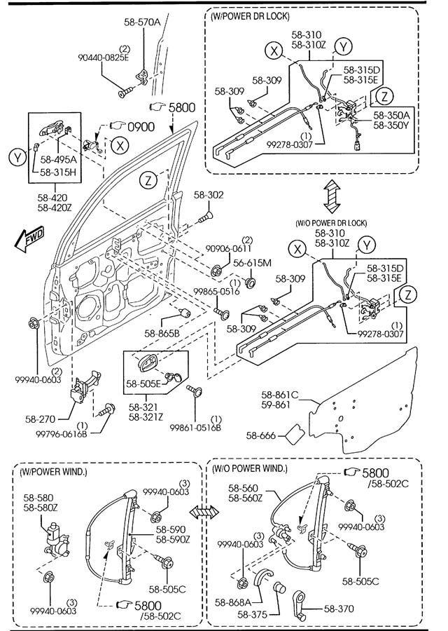 2004 mazda mpv window motor replacement