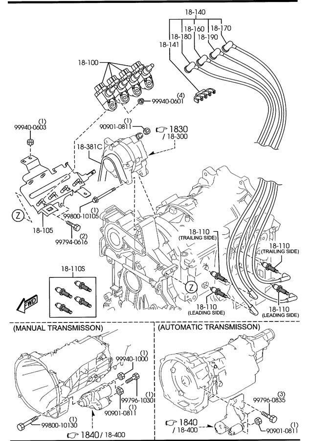 2004 2005 2006 2007 2008 2009 2010 2011 mazda rx-8 spark ... 2005 rx 8 plug diagram #12