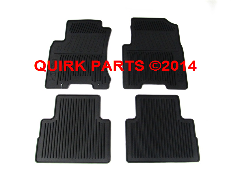2008 2013 Nissan Rogue All Weather Front Rear Rubber Floor