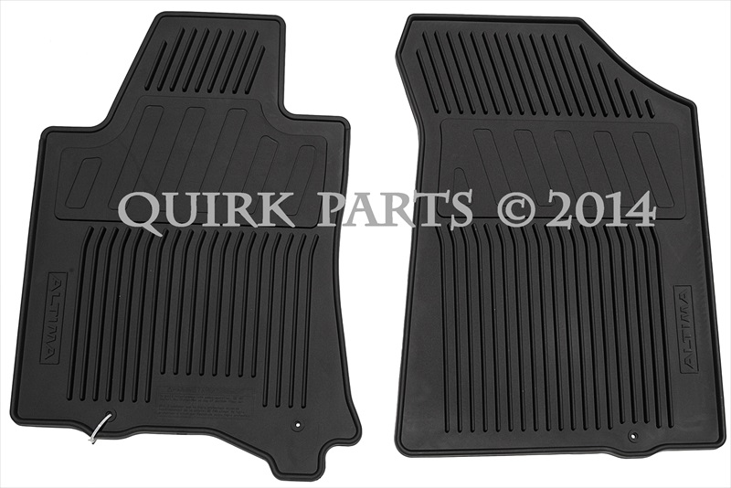 2013 2015 Nissan Altima Black All Weather Rubber Floor Mats Set Of 4 Oem New Ebay