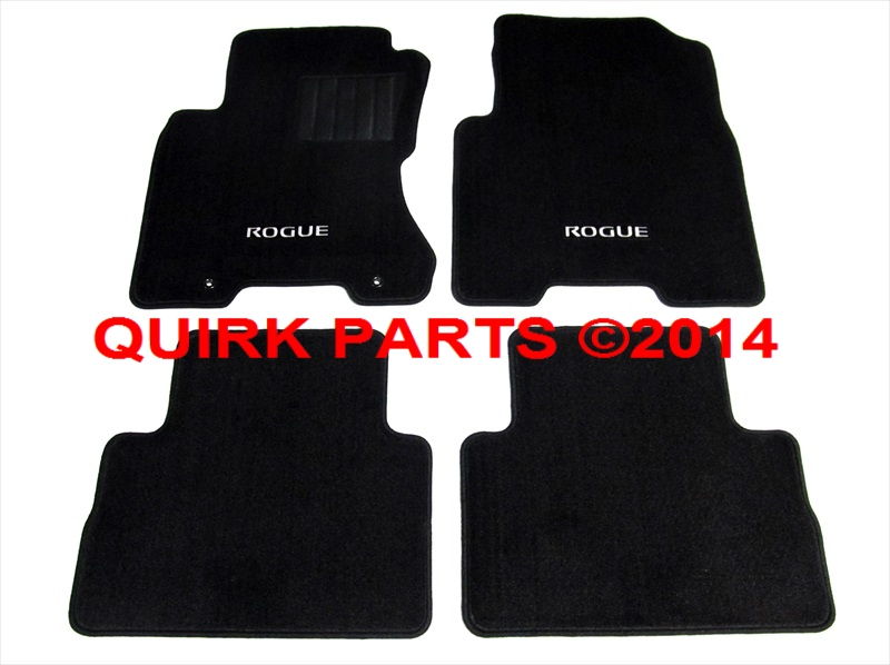 2008 2013 nissan rogue black carpeted floor mats front. Black Bedroom Furniture Sets. Home Design Ideas