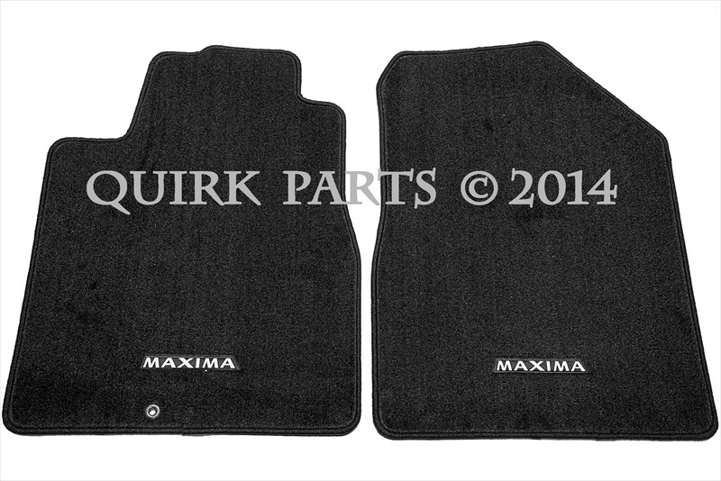 2004 2008 Nissan Maxima Black Carpet Floor Mats Front