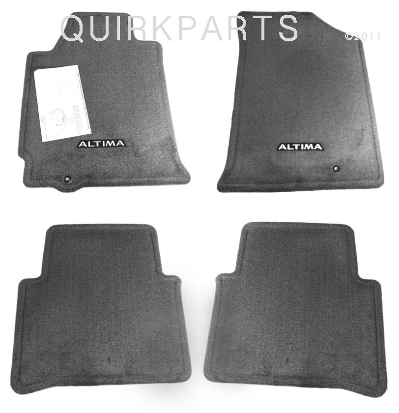 2008 2011 Nissan Altima Floor Mats Black Set Of 4 Genuine