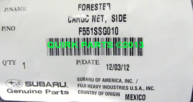 2014 2017 Subaru Forester Trunk Cargo Net Left Amp Right Set