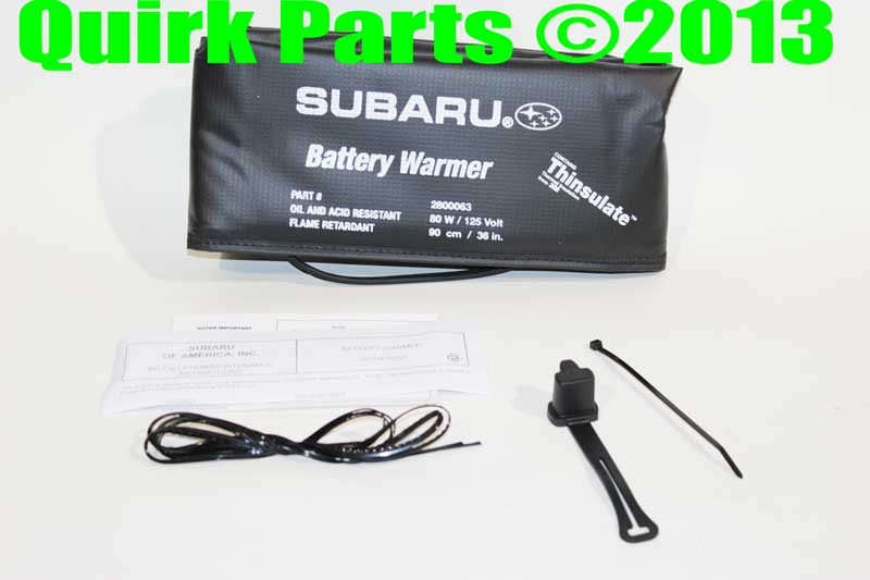 Cold weather car battery heater