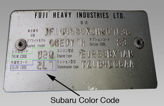 2008 2012 Subaru Touch Up Paint Dark Grey Metallic 61k