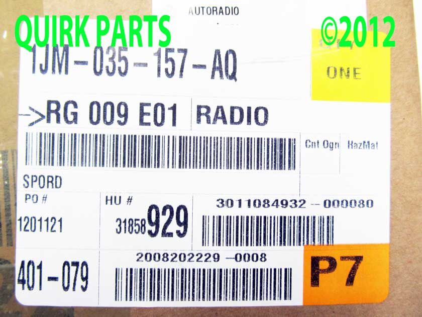 vw volkswagen mk mp radio  volk  bluetooth gli passat golf jetta oem  ebay